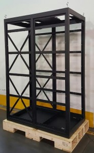 Sheet metal cabinet for TV transmitters